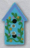 86324 - Light Blue Birdhouse With Flowers 1/2in x 7/8in - 1 per
